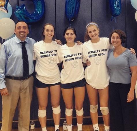 Volleyball Team Celebrates at Senior Night