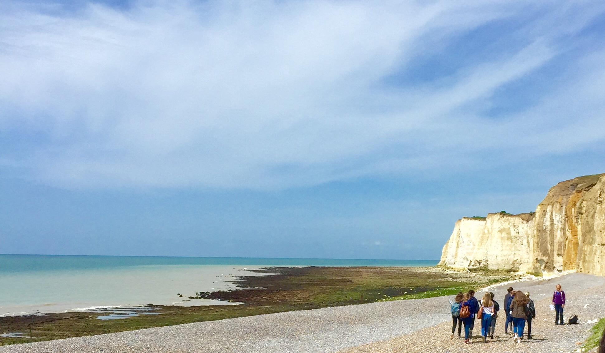 NEWHAVEN AND SEAFORD: Some students took a geography trip to Newhaven and Seaford to study the cliffs there and how the water affected the beaches of the town.