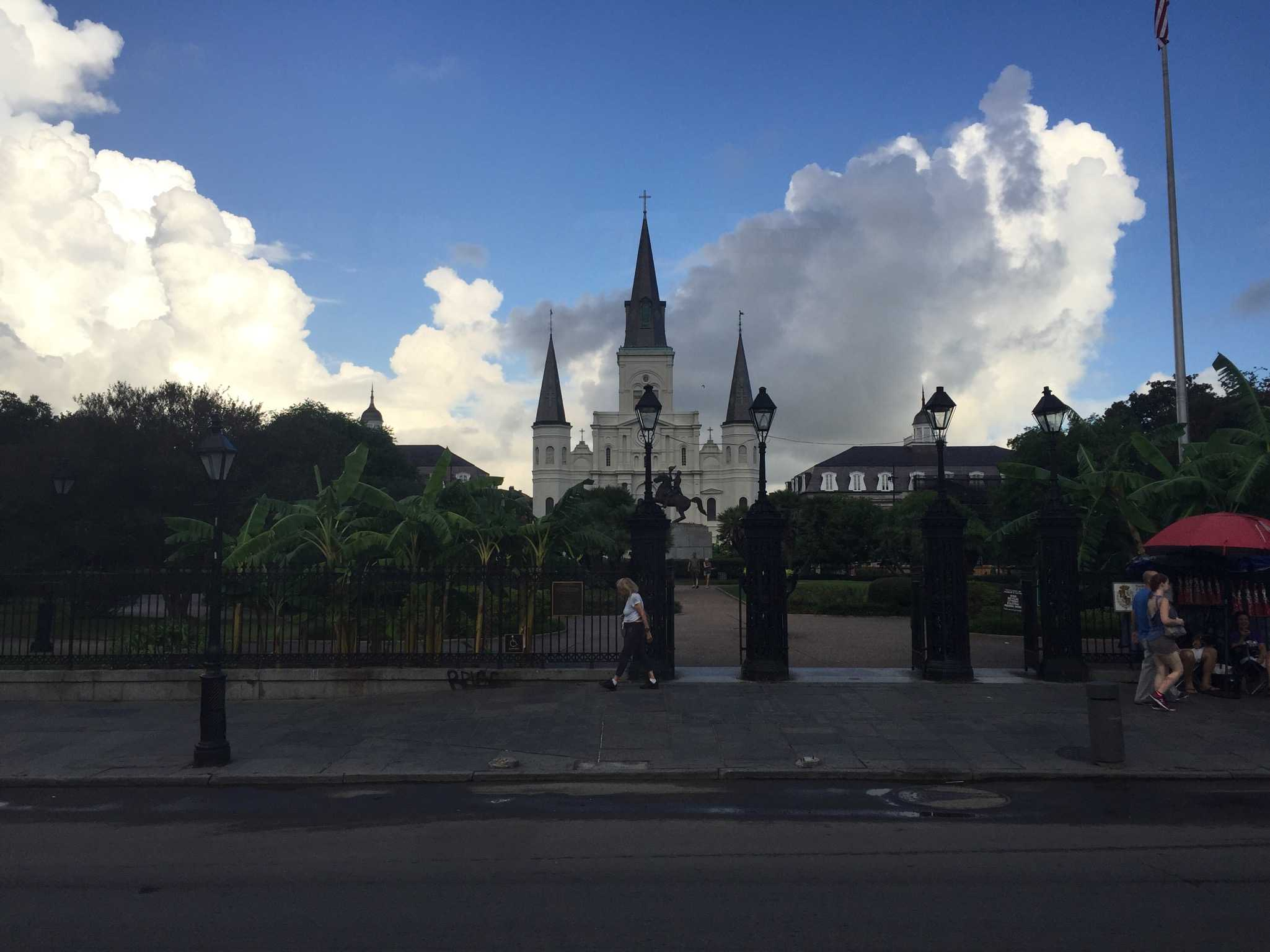 THE BIG EASY: Here in Jackson Square, you can sit and watch the street performers or walk through the shops lining the square.