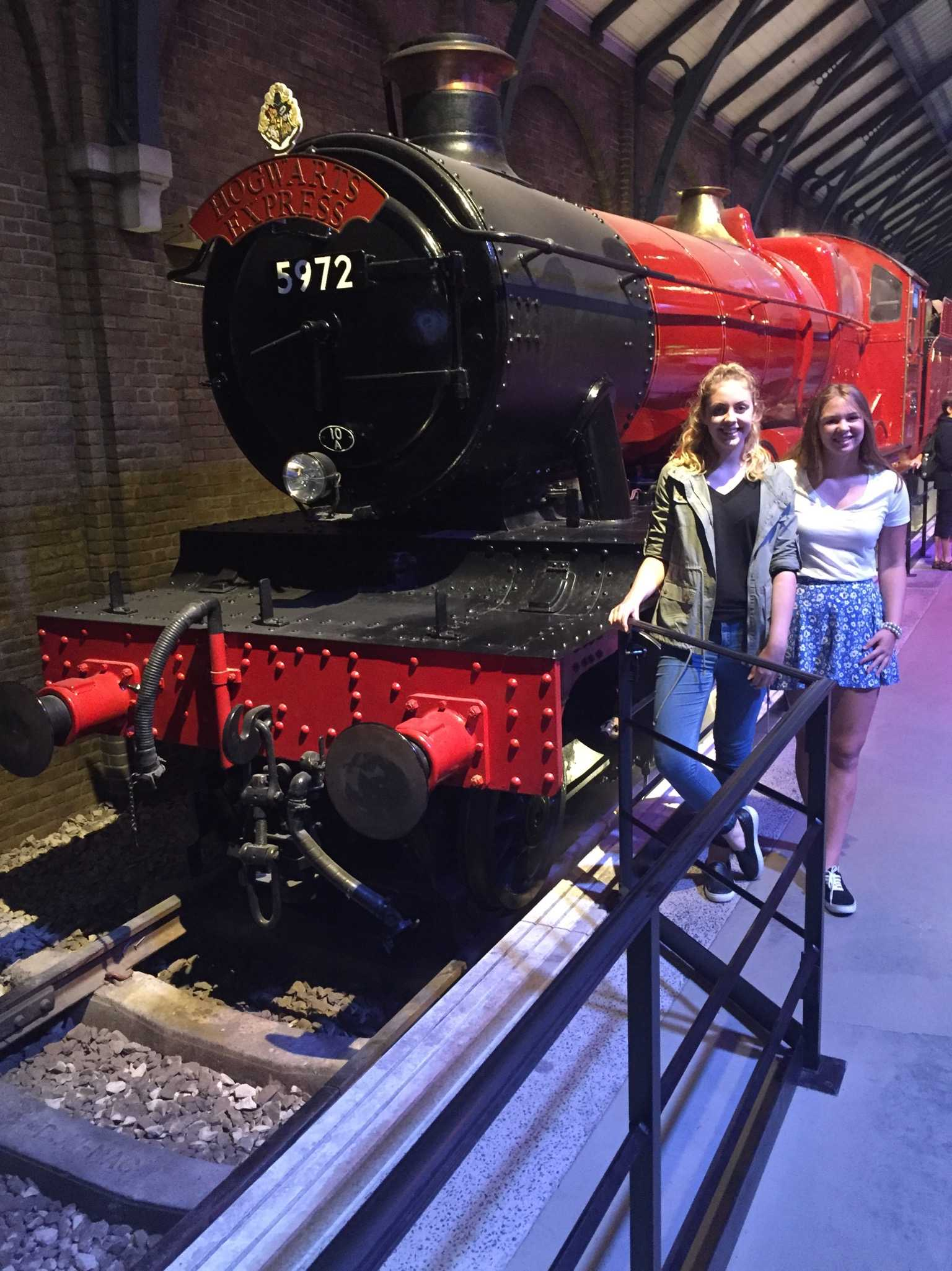 ALL ABOARD: Amy Hopkinson (left) and I decided to see what the hype was all about. Turns out the Hogwarts Express is an actual steam engine train — I thought it ran on magic.