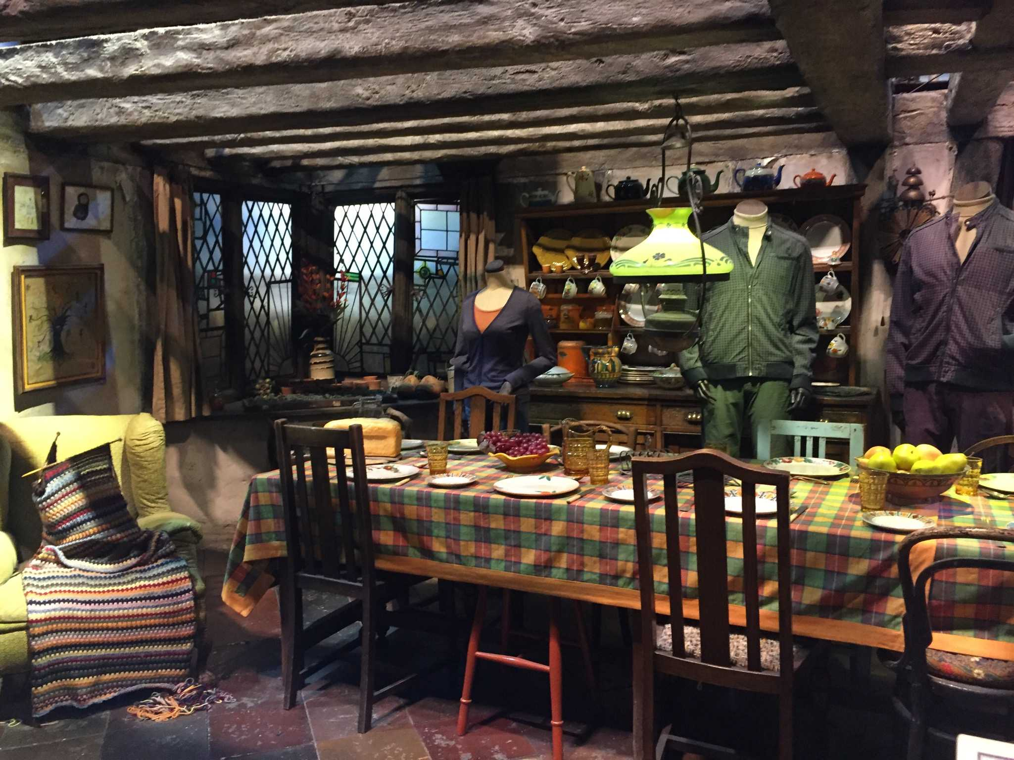 COZY AND CUTE: If you want a place to go where you will always feel welcome, go to The Burrow and hang out with Ron Weasley's family. You can also help Mr. Weasley figure out how to use Muggle items.