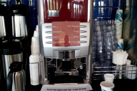 Berkeley's espresso machine sees frequent use in the mornings.