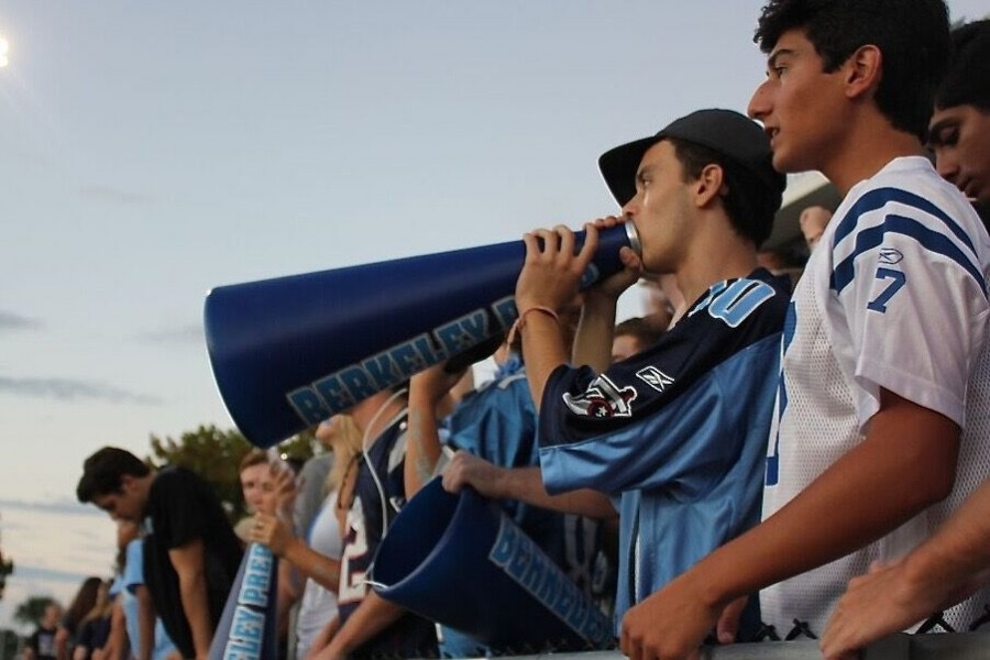 Seniors Jimmy Goodman and Stanley Dennison came fully equipped to cheer on their Bucs at tailgate