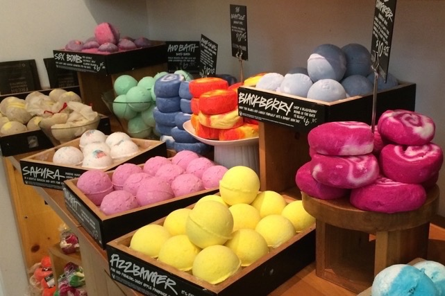Try using Lush bath bombs to see your worries dissolve right before your eyes!