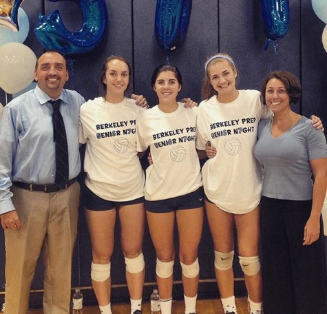 Volleyball Team Celebrates at Senior Night