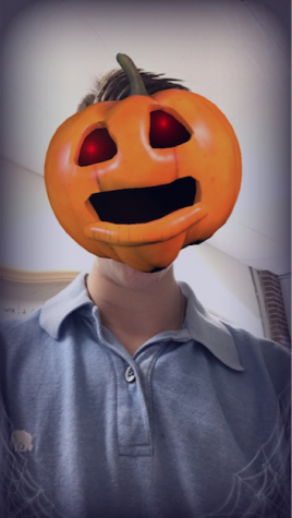 Sophomore Eli Siegman has fun with Snapchat's new Halloween update.