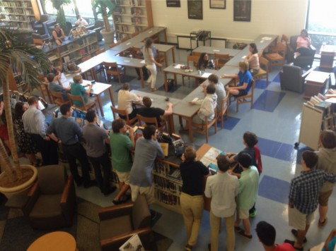 Trivia matches were held both in Gills and the library during lunch, attracting many students to come watch their fellow peers compete.