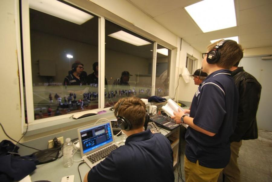 The crew of the Berkeley Broadcast Network watches over a regular season Varsity Football game in late October.