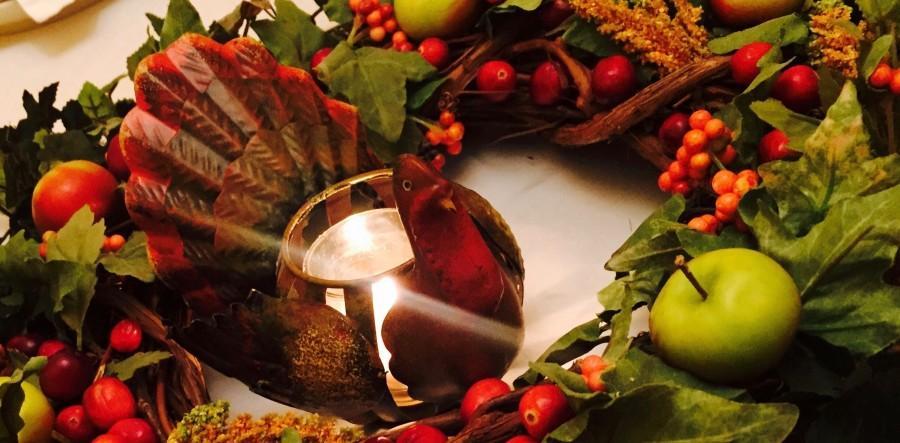 A beautiful turkey centerpiece from Thanksgiving.