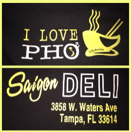 "Saigon Deli doesn't hold back, with its employees sporting T-shirts and banners bearing the words ""I Love Pho."""