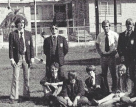 Pictured is The Fanfare staff in 1972; Martin Baron