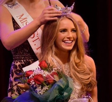 Critchfield is seen here being crowned Miss St. Petersburg.