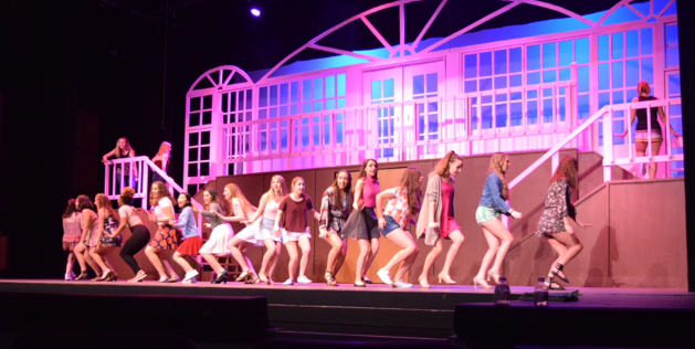 The cast of Legally Blonde performs right before spring break.
