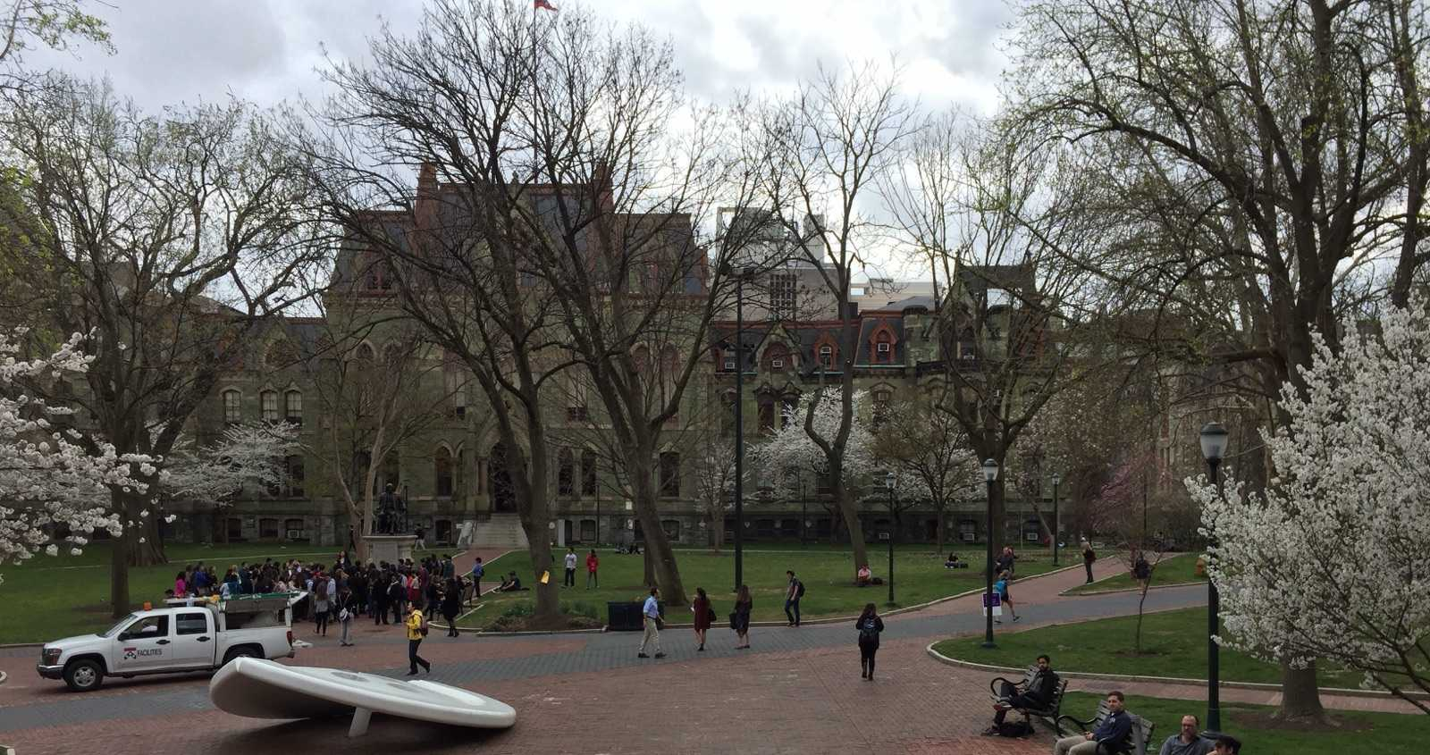 Barcenas took this picture during her visit to the University of Pennsylvania.