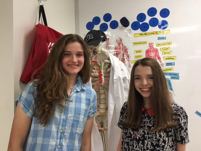 The co-founders of the medical science club, Marissa Maddalon '17 and Isabella Monticciolo '17 (left to right), can be seen above.