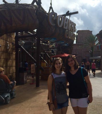 THE MUMMY RIDE? The new Busch Gardens coaster bares a stark resemblance to the famous Universal Studios ride. Here, McKenna Ebert (left) and Alicia Rose (right) prepare to ride the coaster.