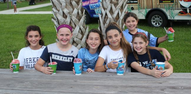 Though these fifth grade girls are not yet old enough to be in Middle Division, theyre very familiar with the ins and outs of Tailgate. Emily McDermott 24 (second from right) has attended Tailgate since Pre-K.  Her favorite part is hanging out with her friends at the football game. She says, Whenever [theres] a spare football, a bunch of [us] start playing with it.