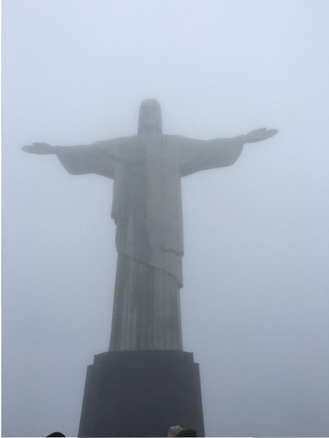 RIO'S TIME TO SHINE:  Rio's Christ the Redeemer statue stands tall as the city hosted the 2016 Olympic Games.  Photo by Sarah Munger