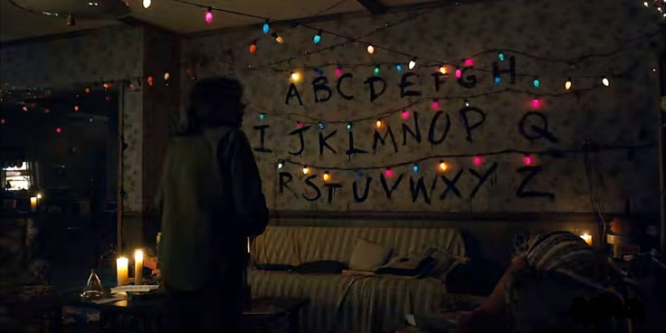 CONTROL THE LIGHTS: Although this woman may initially seem like just another crazy cat lady testing a newly hatched conspiracy theory, this image actually depicts the desperate mother of Will Byers attempting to communicate with her son by having him control individual Christmas lights from wherever he's located. Source: Trent Walton