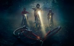 WILL THEY FIND WILL? In the dead of the night, Will's best friends (from left) Lucas, Mike and Justin scavenge the forest for their missing friend, but are only able to locate his deserted bike; thus furthering the sense of hopelessness in this seemingly impossible mission.