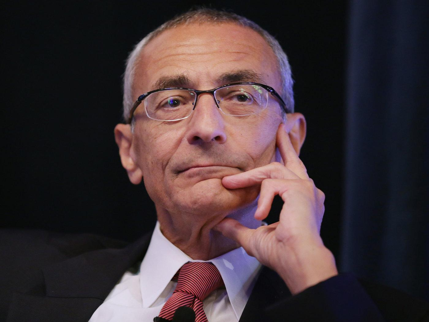 WIKILEAKED EMAILS: Clinton's campaign chairman, John Podesta, assumes a look of resignation.