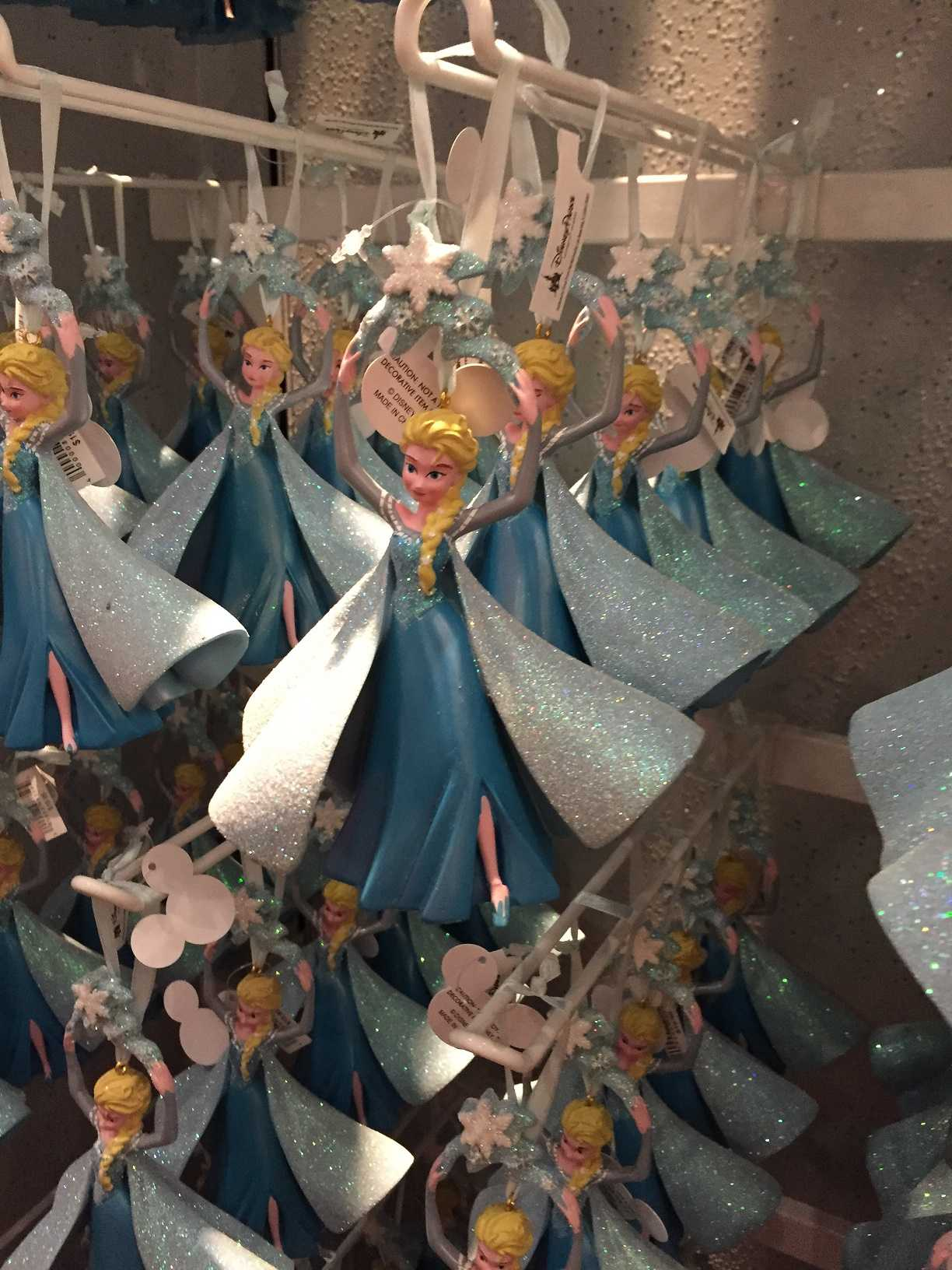 MAKING TODAY A PERFECT DAY: Christmas is almost here, so buy a mandatory Frozen ornament at the Christmas shop.