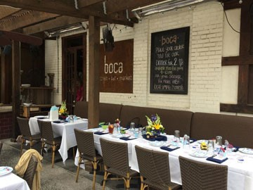 CASUAL AND CHIC: Eat at Boca if you're looking for something more casual and a little more laid-back.
