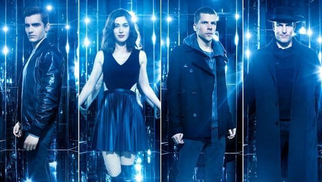 MODERN DAY ROBIN HOODS STRIKE AGAIN: The Four Horsemen reappear from their year-long hiatus to uphold the values of the Eye and bring balance to the scales of justice. After using their fantastic illusions and sparkling effects to dazzle their audience, they attempt to expose the corrupt Owen Case. From left to right: Jack Wilder (Dave Franco), Lula May (Lizzy Caplan), Daniel Atlas (Jesse Eisenberg), and Merritt McKinney (Woody Harrelson). Source: www.hindustantimes.com