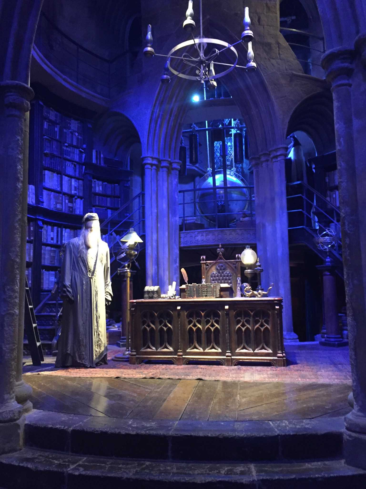 DUMBLEDORE'S OFFICE: Sometimes it's nice to just stop by and talk to the paintings of all of the former headmasters on the walls. Or look into someone's memories with the Pensieve. Your choice.