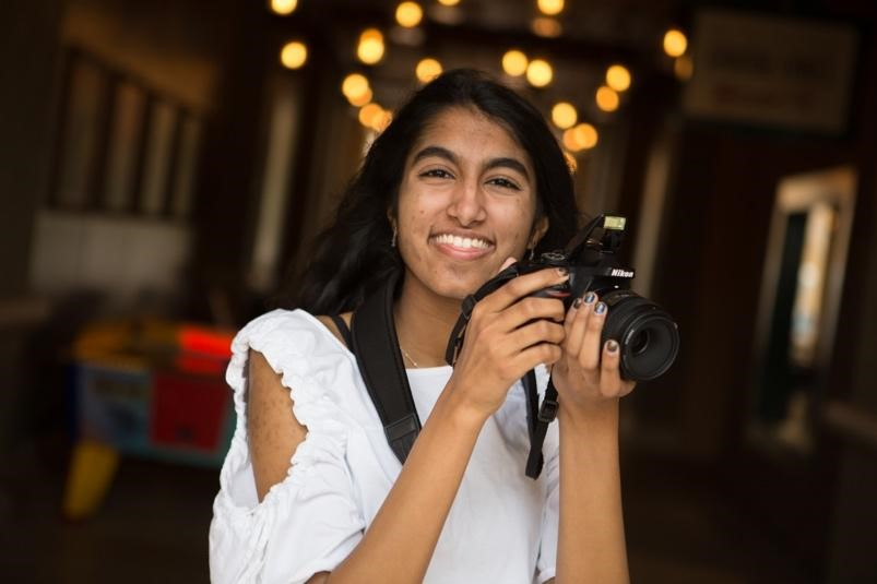 PASSIONATE PHOTOGRAPHER: Wickramasinghe first got her hands on a camera when she purchased a Sony Cyber Shot at eight years old.