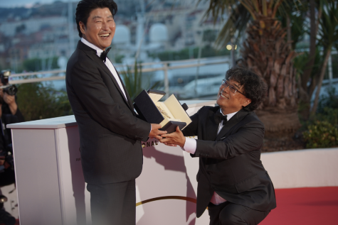 AWARD WINNER: Parasite has broken records with its wins at the Cannes Film Festival, being the first Korean film to win the Palme d'Or. Bong Joon-Ho with Kang-Ho Song poses during the Award Winners photocall at the 72nd Cannes Film Festival in Cannes, France on May 25, 2019. Photo by Denis Makarenko.