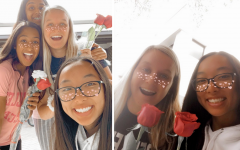 GALENTINE'S DAY: Kaitlyn Mang '23, Finley Jordan '23, Meher Irani '23 and Meghna Bukkapatnam '23 spend the day together on Valentine's Day. Photo by Kaitlyn Mang.