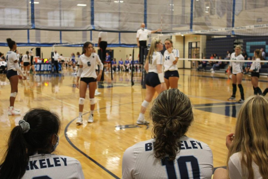LASER FOCUS: Even from the bench, our volleyball players are hyper focused on the court.